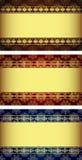 Set Weinlese Gold-gestaltete Kennsätze. Stockfoto