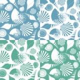 Set wektorów wzory z skorupami Obrazy Stock