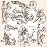 Set wektor wiruje dla projekta Obrazy Royalty Free