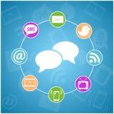Set wektorowa komunikacyjna ikona Ilustracja Wektor