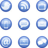 Set wektorowa komunikacyjna ikona Royalty Ilustracja