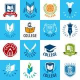 Set wektorowa logo szkoła wyższa ilustracji