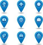 Set wektorowa podróży ikona Ilustracja Wektor