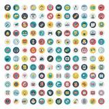 Set wektorowa sieć i ogólnospołeczne medialne ikony. Mieszkanie Obraz Royalty Free