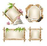 Set wektorowe bambusowe ramy Obrazy Royalty Free