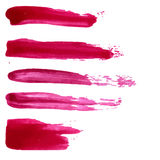 Set wektorowe czerwone farb plamy Kolekcja Fotografia Stock