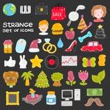 Set wektorowe ikony Zdjęcia Stock