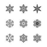Set wektorowe ikony i wzorów muśnięcia Obraz Stock