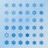 Set wektorowe ikony i wzorów muśnięcia Fotografia Royalty Free