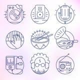 Set wektorowe ikony w nowożytnym liniowym stylu Zdjęcia Royalty Free