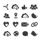 Set wektorowe ogólnospołeczne sieci ikony ilustracji