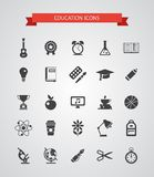 Set wektorowe płaskie projekt ikony Obrazy Stock