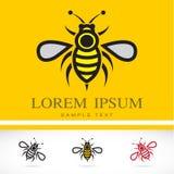 Set wektorowe pszczół ikony Fotografia Royalty Free