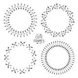 Set wektorowe strzała ramy doodles rysująca ręka Zdjęcia Stock