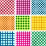 Set wektorowego tablecloth bezszwowi tła Fotografia Stock