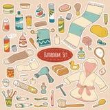 Set wektorowej łazienki i osobistej higieny rzeczy Obrazy Stock