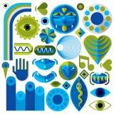 Set wektorowi abstrakcjonistycznej sztuki symbole, różny nowożytny stylowy wykres Zdjęcia Stock
