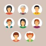 Set wektorowi avatars i charaktery w mieszkaniu projektujemy Obraz Stock