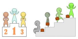 Set wektorowi charaktery przedstawia sukces Zdjęcie Stock