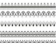 Set wektorowi dekoracyjni wzory ilustracja wektor