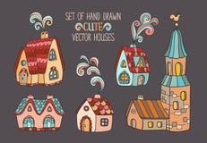 Set wektorowi domy royalty ilustracja