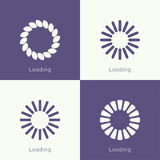 Set wektorowi downloaders Obrazy Stock