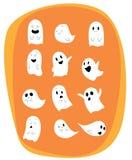 Set wektorowi duchy dla Halloweenowego projekta ilustracja wektor