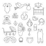 Set wektorowi dziecko elementy Obraz Royalty Free