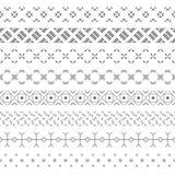 Set wektorowi geometrical dividers Zdjęcie Stock