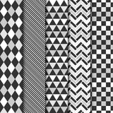 Set wektorowi geometryczni bezszwowi wzory ilustracja wektor