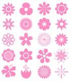 Set Wektorowi kwiaty Zdjęcie Stock