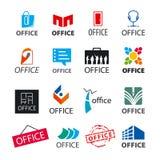 Set wektorowi logowie biurowi Zdjęcie Stock
