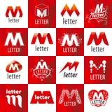 Set wektorowi logowie listowy M Obraz Royalty Free