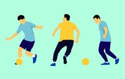 Set wektorowi ludzie bawi? si? futbol ilustracja wektor