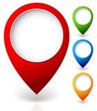 Set wektorowi mapa markiery z różnorodnymi kolorami, obraz royalty free