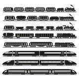 Set wektorowi pociągi Obrazy Stock