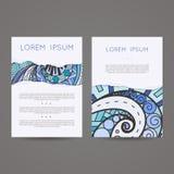 Set wektorowi projektów szablony Broszurki wewnątrz Fotografia Royalty Free