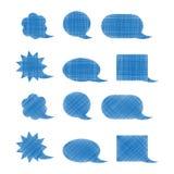 Set wektorowi puści błękitni ocieneni bąble Fotografia Royalty Free