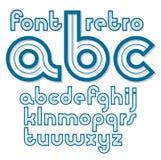 Set wektorowi retro starzy lowercase Angielskiego abecadła listy, może ilustracja wektor