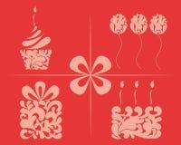 Set wektorowi urodzinowi elementy Zdjęcia Stock