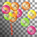 Set wektorowi wakacyjni coloful balony royalty ilustracja