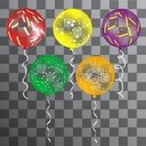 Set wektorowi wakacyjni coloful balony ilustracja wektor