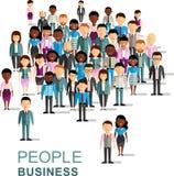 Set wektorowy amerykanin afrykańskiego pochodzenia, europejski biznesowy zaludnia Fotografia Stock
