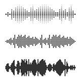 Set wektorowy audio waży Fotografia Stock