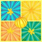 Set wektorowy jesieni tło Zdjęcie Stock