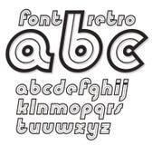 Set wektorowy kursywny retro lowercase Angielskiego abecadła list ilustracja wektor
