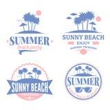 Set wektorowy lato logo Fotografia Royalty Free