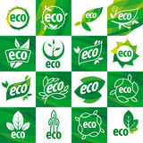 Set wektorowy loga eco Zdjęcie Stock