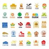 Set wektorowy loga gospodarstwo rolne ilustracji