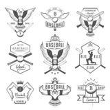 Set Wektorowy loga i odznak baseball royalty ilustracja